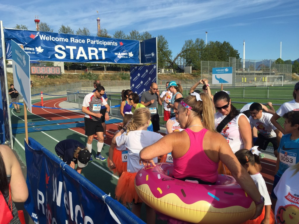 PNE Donut Dash Starting Line