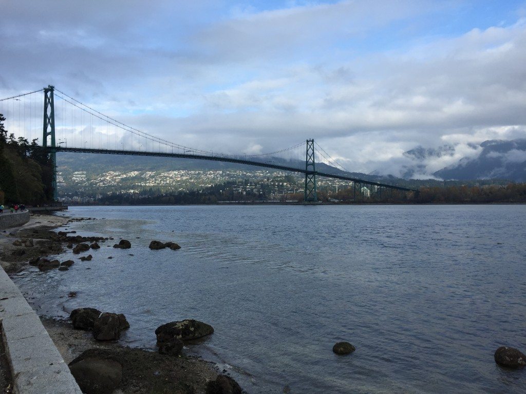 A nice view of the Lion's Gate Bridge