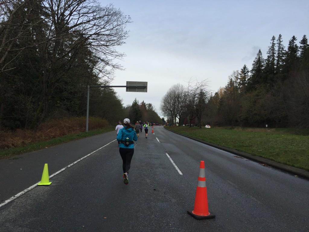 Uphill on NW Marine Dr. - Fall Classic Half Marathon