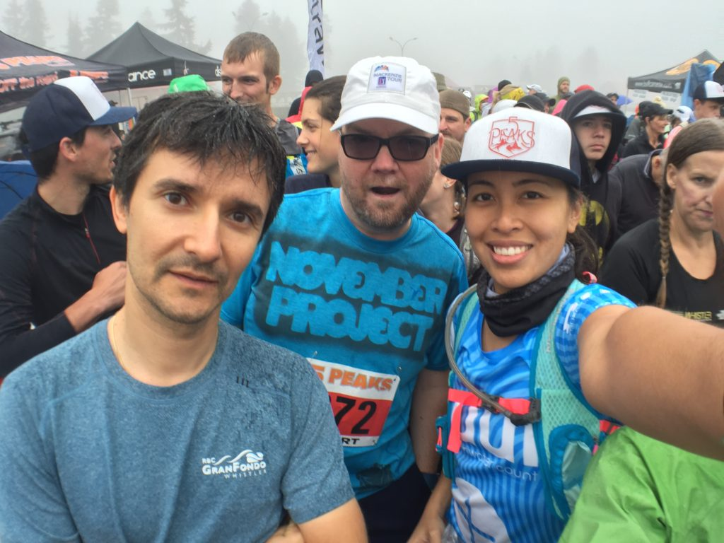 Cuski, Steve and I at the start - 5 Peaks Trail Running Series