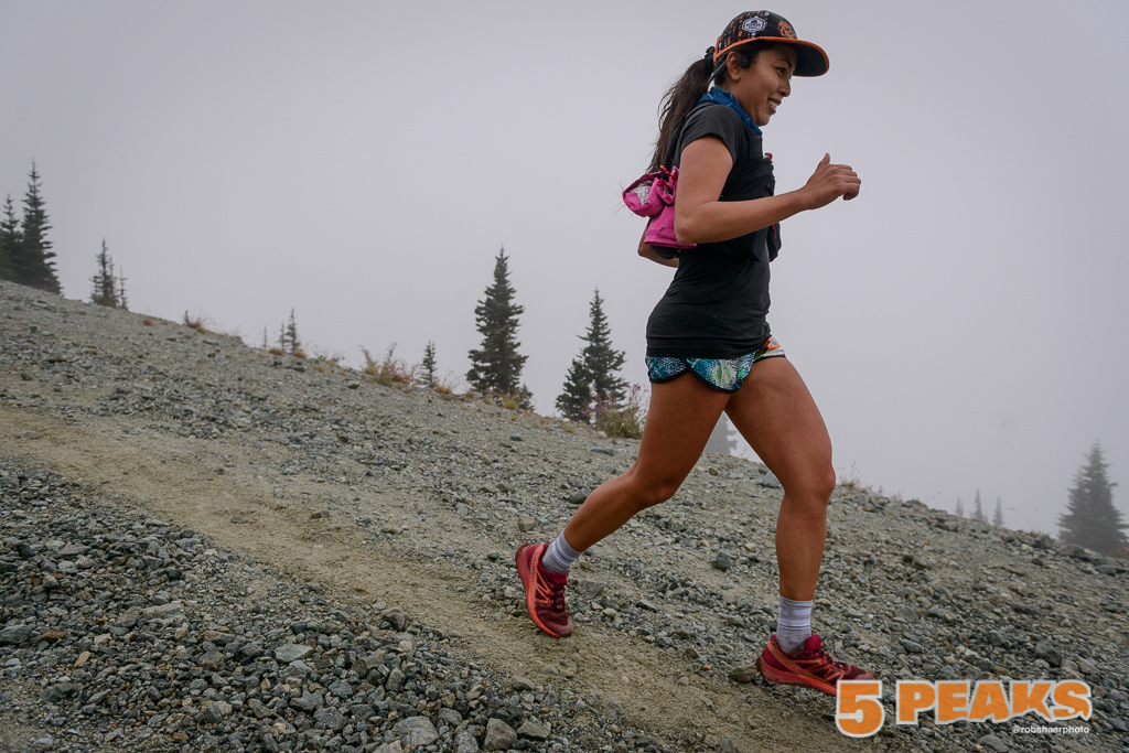 trail runner running down Whistler Blackcomb trail, photo by Rob Shaer Photography